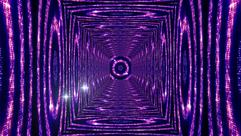 Shining Circles Tunnel 4 Stock Video Footage