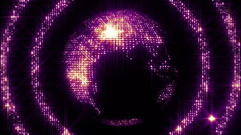 Shining Spinning Earth 5 Animation