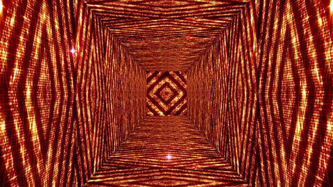 Shining Squares Tunnel 1 Stock Video Footage