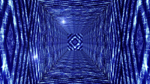 Shining Squares Tunnel 3 Animation