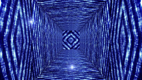 Shining Squares Tunnel 3 Stock Video Footage