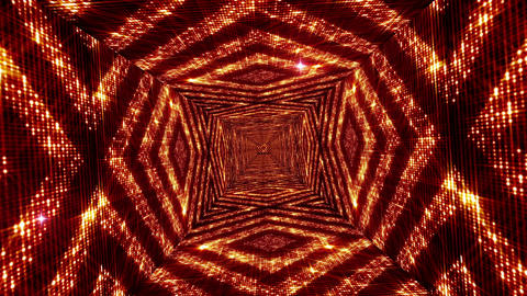Shining Squares Tunnel 5 Stock Video Footage