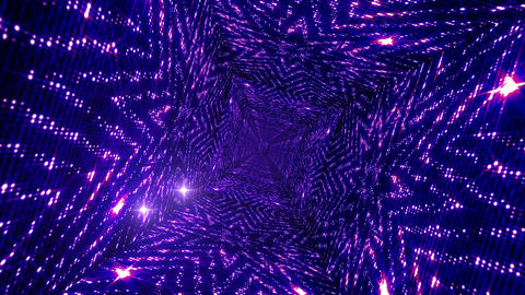 Shining Stars Tunnel 8 Stock Video Footage