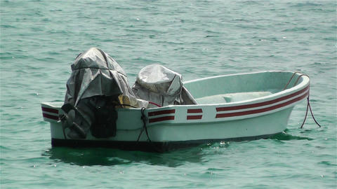 Small Fisherman Boat 1 Stock Video Footage