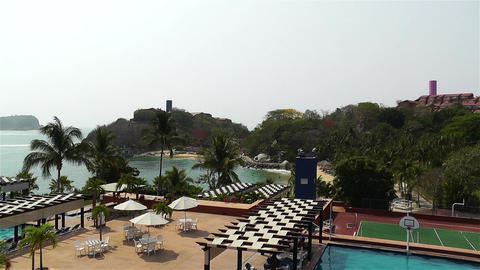 Tropical South Mexican Resort in Oaxaca 1 Footage
