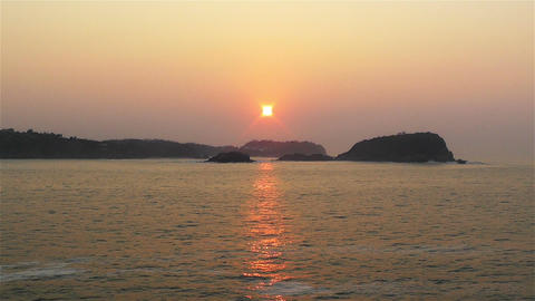 Tropical Sunrise in Hazy Morning 2 Stock Video Footage