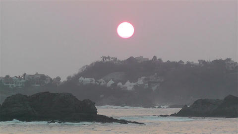 Tropical Sunrise in Hazy Morning Timelapse Footage