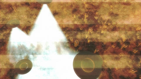 UFO Invasion Scanning in Metropolis 19 Stock Video Footage