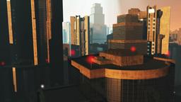 UFO Invasion Scanning in Metropolis 23 Stock Video Footage