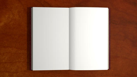 Opening Book, Turn Page stock footage