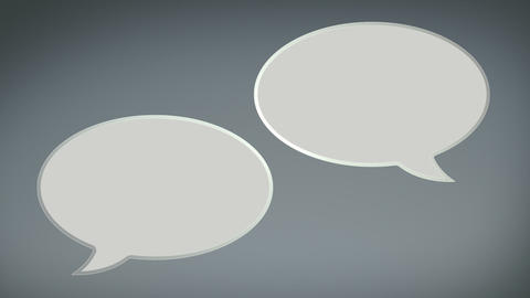 Paper Speech Bubbles Rolling In and Out Animation