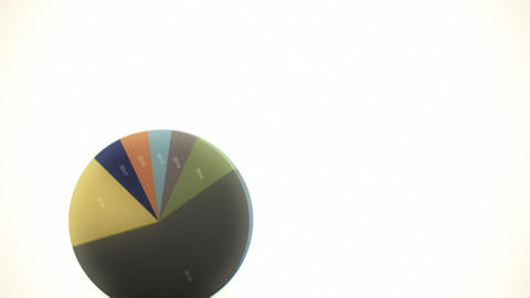 Falling Pie Charts (with Copy Space) Stock Video Footage
