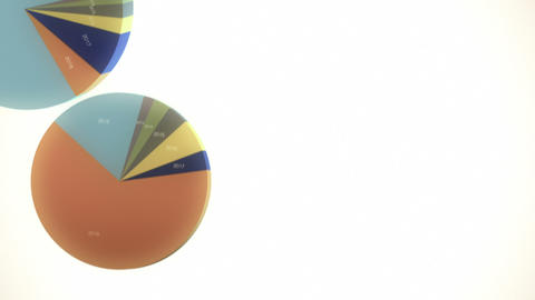 Falling Pie Charts (with Copy Space) Animation