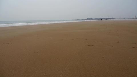 panoramic sea beach Stock Video Footage
