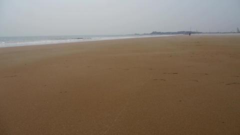 panoramic sea beach Footage