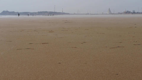 panoramic sea beach Stock Video Footage
