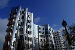 Modern Architecture in Dusseldorf, Germany ภาพถ่าย