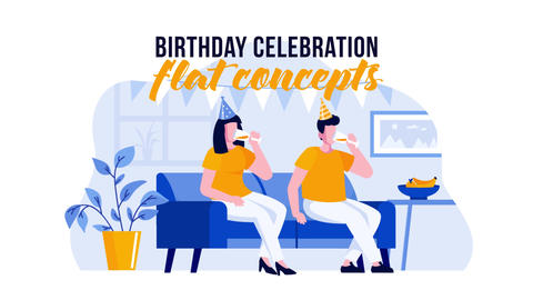 Birthday Celebration - Flat Concept After Effects Template