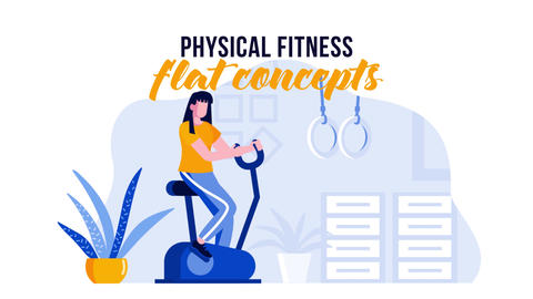 Physical Fitness - Flat Concept After Effects Template