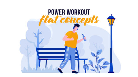 Power Workout - Flat Concept After Effects Template
