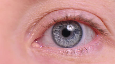 pupil in the eye closeup. female eye Live Action