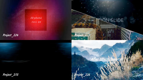 4 template projects - one file After Effects Template