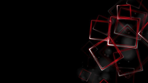 Dark red glossy squares abstract video animation Animation