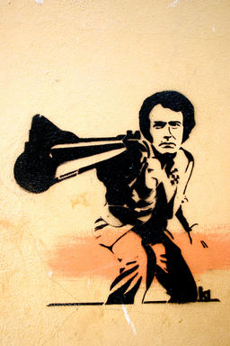 Dirty Harry, Stencil Graffiti Art Photo