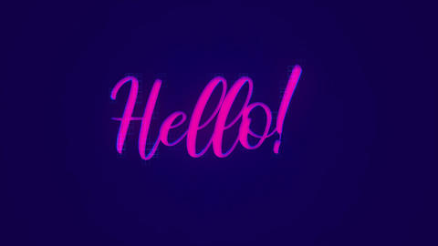 Hello Message With Pop Art Style Effect Animation
