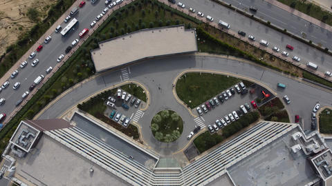 Vehicles parked hospital Live Action