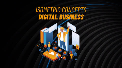 Digital Business - Isometric Concept After Effects Template