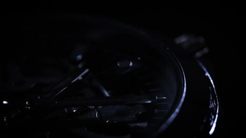 Watch. Close-up on black background Stock Video Footage