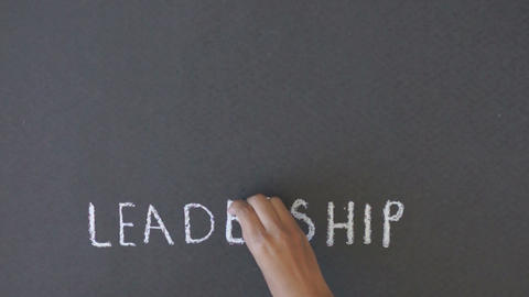Leadership Chalk Drawing Stock Video Footage