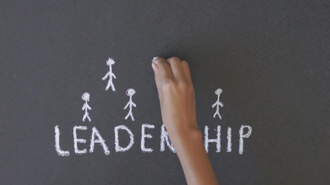 Leadership Chalk Drawing Live Action