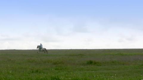 Lone horseman Stock Video Footage