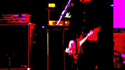 Guitarist playing on stage Stock Video Footage