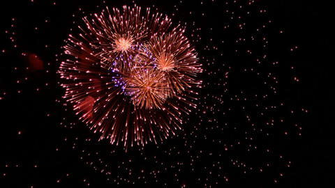 Volleys firework multi Footage