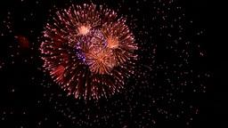 Volleys firework multi Stock Video Footage