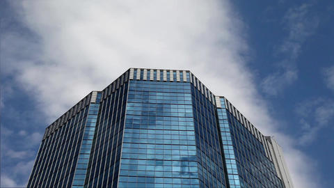 Skyscraper and sky Stock Video Footage