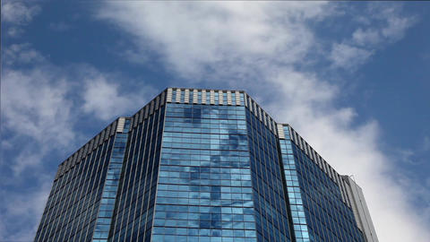 Skyscraper And Sky stock footage