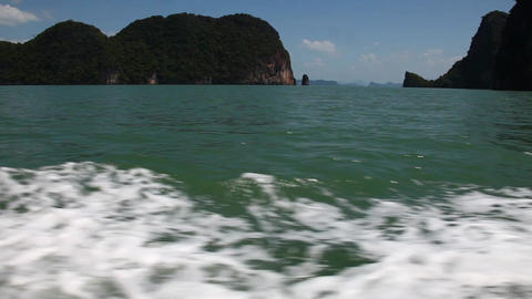 View of the island by boat Footage