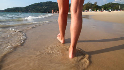 Legs in the sea Stock Video Footage