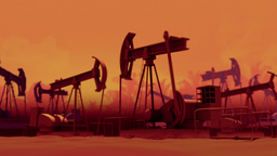 Pumping Oil Wells Animation