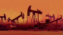 Pumping Oil Wells Stock Video Footage