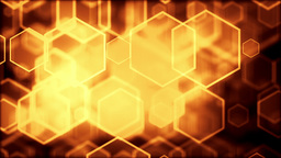 High quality digital background animation, gold version Stock Video Footage