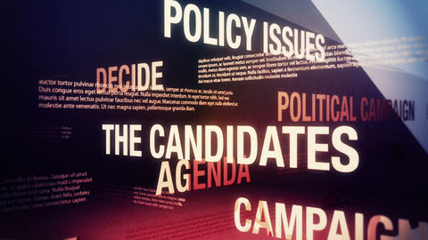 Political Campaign Related Terms Background Loop Animation