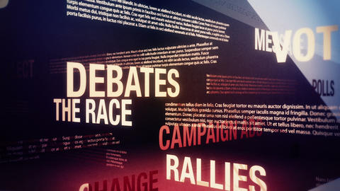Political Campaign Related Terms Background Loop Stock Video Footage