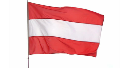flag Austria Stock Video Footage