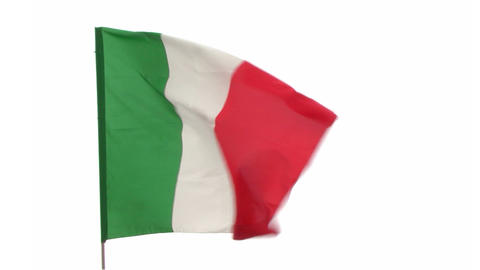 flag Italy Stock Video Footage