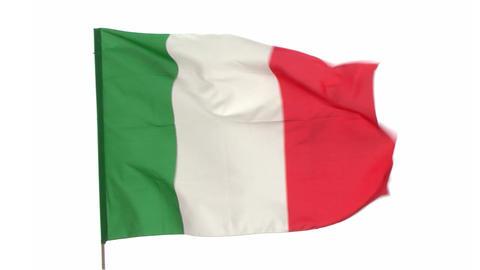 flag Italy Footage